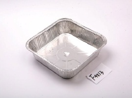 Large Size Square Aluminum Food Containers Standard Weight For Food Storage