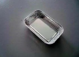 Fast Food / Takeout Food Aluminium Foil Container Rectangle Standard Weight