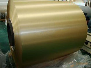 China Anti Oxidation Gold Aluminum Heat Transfer Foil For Air Conditioning & Cooling System supplier