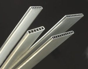 China Multi - Port Extrusions / Microchannel Aluminum Extruded Tubes 1100 / 3003 / 3102 supplier