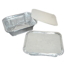 China Large Size Square Aluminum Food Containers Standard Weight For Food Storage supplier