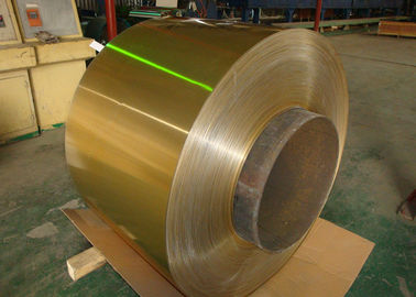 China Air Conditioner Hydrophilic Coated Roll Of Aluminum Coil 0.06-0.2mm Golden 1100, 3003, 3102, 8011 supplier