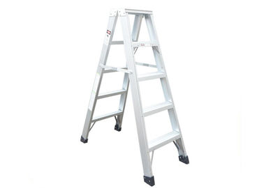 China Customizable Aluminum Step Ladder Silver Sandblasted Oxidation 6063 T5 supplier