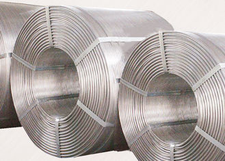 China Al 99.70E Deoxidizer Aluminum Wire , Silver Color Aluminum Deoxidizer supplier