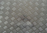 China Thickness 0.08mm Diamond Stucco Aluminium Heat Transfer Sheets With Five Bars factory