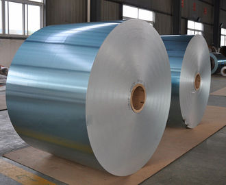 China Hydrophilic Aluminum Heat Transfer Foil Hot Rolled Blue Color For Evaporator factory