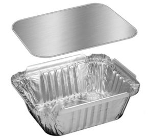 China Hotel Silver Aluminum / Aluminium Containers For Food Takeaway Packaging factory
