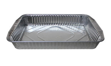 China Airline Aluminum Foil Food Containers / Aluminium Trays For Food Sealing distributor