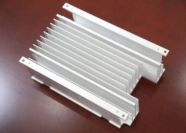 China Silver Customizable Extruded Aluminum Alloy Radiator Hot Rolling 6000 Series 6063 factory