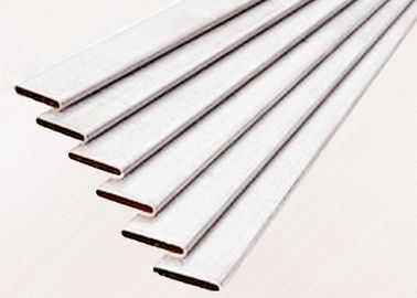 China Flat Hi Frequency Welded Tube Aluminium Extruded Profiles For Radiator / Water Tank factory