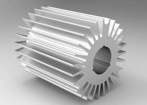 6000 Series Aluminum Heat Sink Extrusion Heating Radiator For Led Light